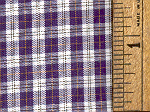 100% Pima Cotton Plaid C 4-11